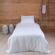 Create Home Pellava pussilakanasetti 150x210+55x65 valkoinen