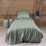 Create Home satiinipussilakanasetti Mandala 150x210 + 55x65 cm vihreä