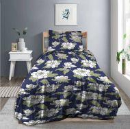 Create Home satiinipussilakanasetti Atsalea 150x210+55x65 cm t.sininen